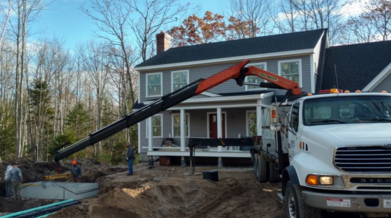 Kennebunkport Maine New Driveway Footings Framings Septic System